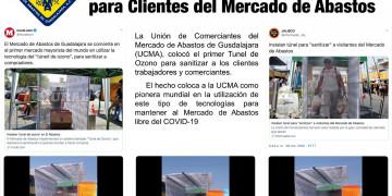 """Mercado de Abastos de Guadalajara instala el primer """"Túnel de Ozono"""" para sanitizar a las personas que acuden a realizar sus compras// 29/03/2020"""